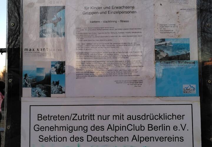 Kletterturm Schwedter Nordwand des AlpinClub Berlin e.V. (DAV) Bild